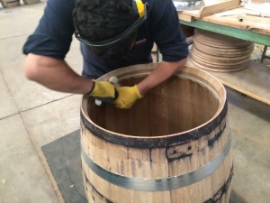 Barrel Head Insertion using a flour paste