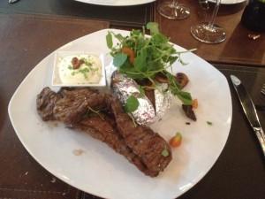 Flat iron steak at Déjà Senti